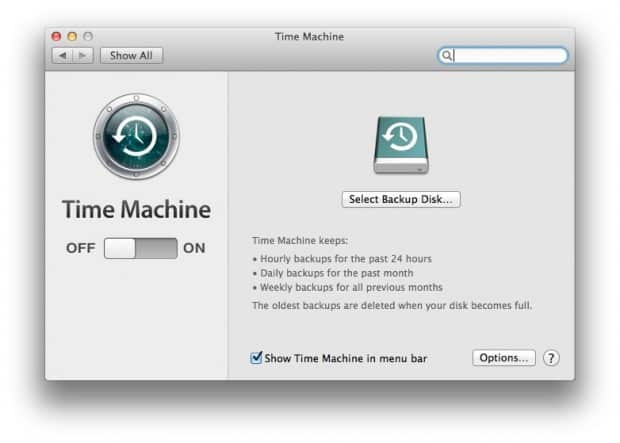 Turn Time Machine Off Mac
