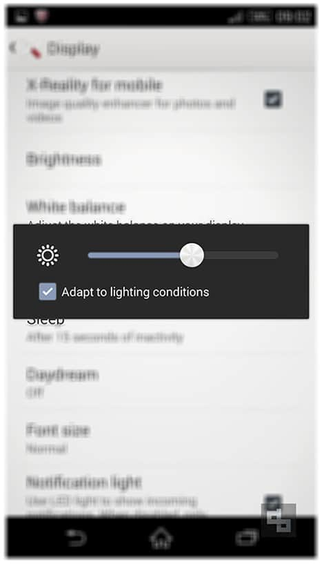 Improve Android Battery Life - Adjust Brightness Android
