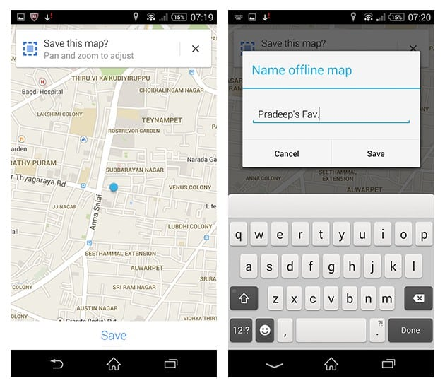Save Google Maps Offline Android iOS