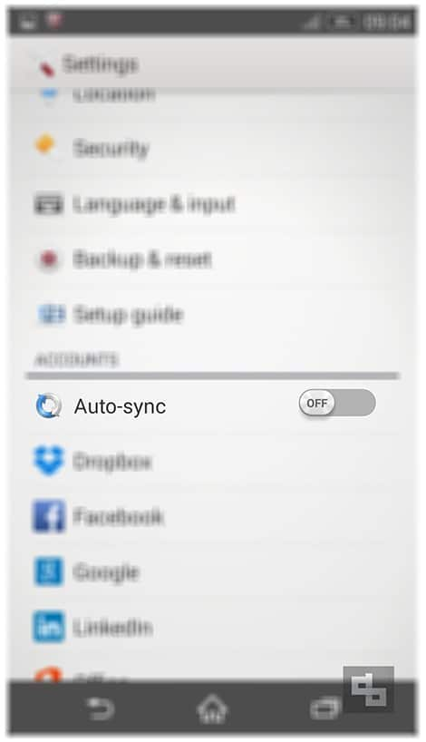 Turn Auto Sync Off Android