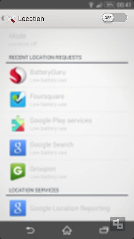 Turn Location Off Android