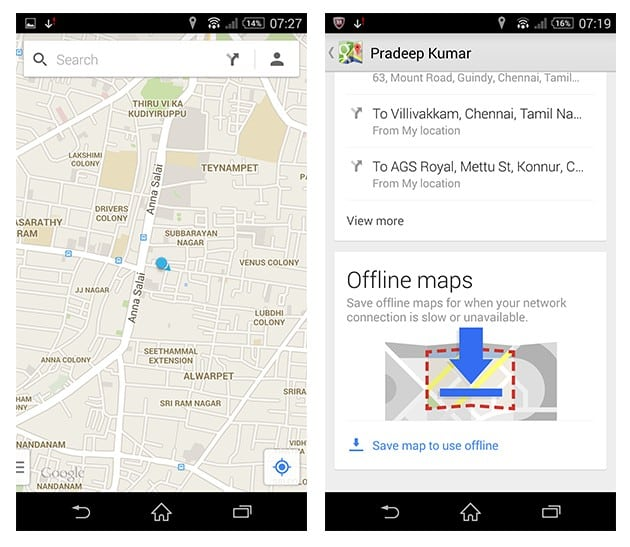 Use Google Maps Offline Android iOS