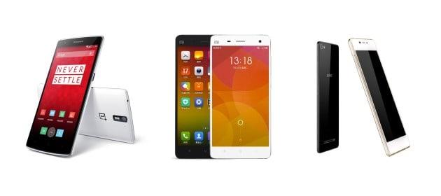 OnePlus One vs Xiaomi Mi 4 vs Gionee Elife S7