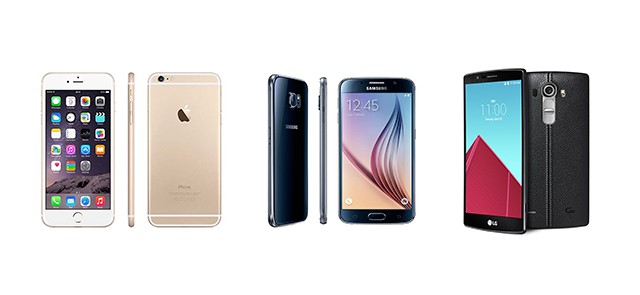 Apple iPhone 6 vs Samsung Galaxy S6 vs LG G4