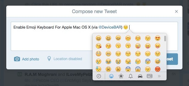 Enable Emoji Keyboard For Apple Mac OS X