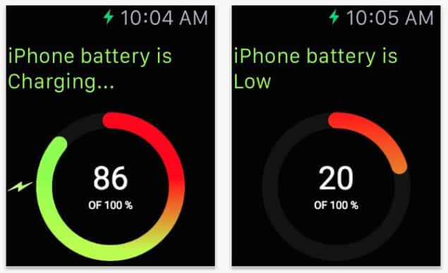 Monitor Your iPhone's Battery From Apple Watch