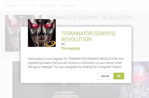 TERMINATOR GENISYS REVOLUTION Google Play Prereigster