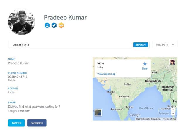Truecaller Verified Badge