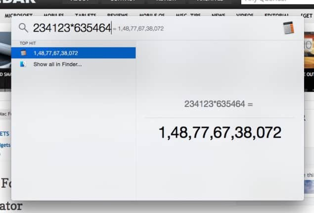Calculator In Mac OS X