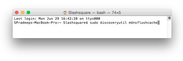 Clear Your DNS Cache In Mac OS X