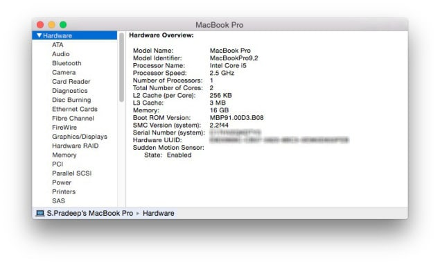 Find Serial Number Apple Mac Device System Information