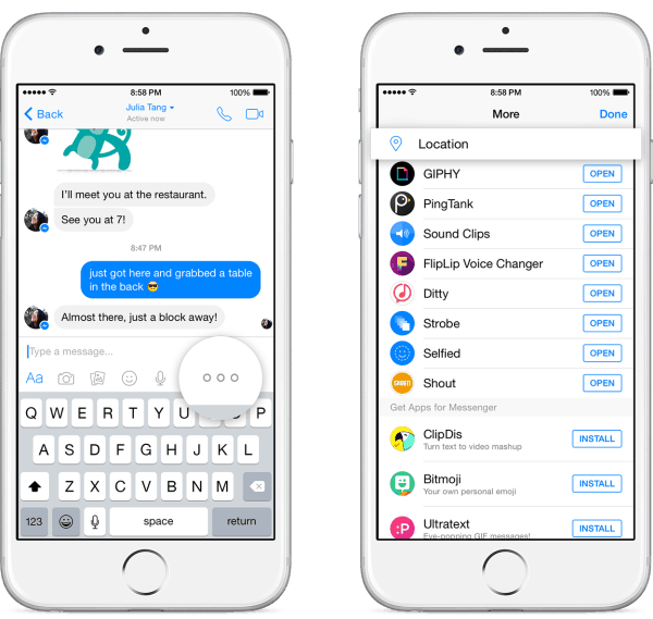Send Friends Your Location On Map Using Facebook Messenger