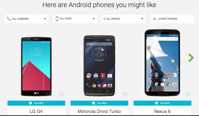 Use Google To Find The Right Android Smartphone For You
