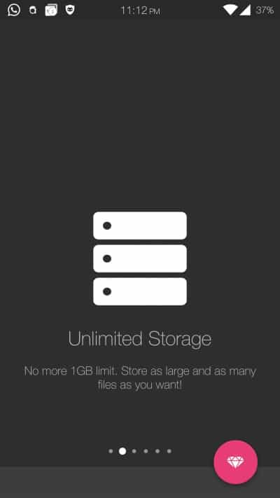 Andrognito Unlimited Storage