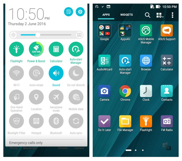 Asus ZenFone Max 2016 User Interface UI